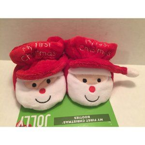 My First 1st Christmas Infant Baby Booties Shoes
